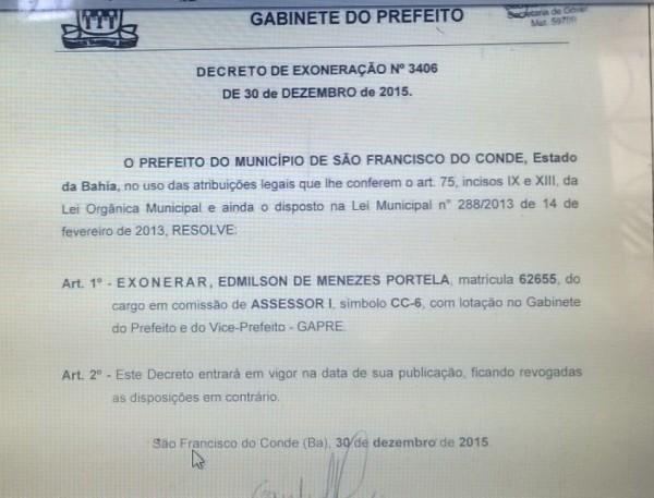 Após denúncia do Tia Cândia, prefeito exonera assessor cachaceiro