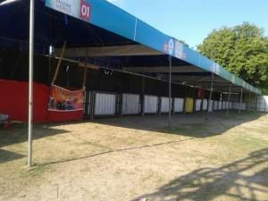 Comerciantes reclamam da falta de segurança nas barracas do Madre Verão