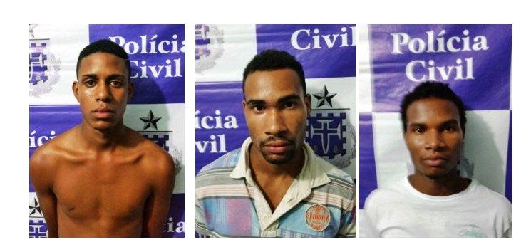 Três homens são presos em Candeias por tráfico de drogas