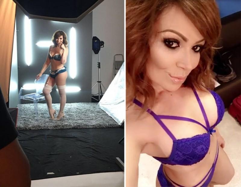 1b191faee70 Solange Almeida posa de lingerie e exibe corpão com 56kg a.