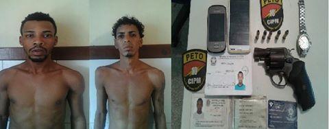 Dois homens suspeitos de assaltos são presos em São Sebastião do Passé