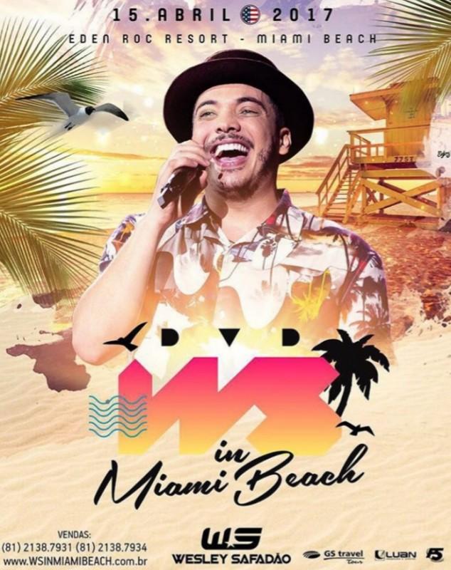 Wesley Safadão anuncia gravação de DVD em Miami com ingressos até R$ 10 mil