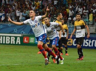 Com dois gols no segundo tempo, Bahia bate o Criciúma na Fonte Nova