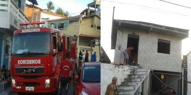 Madre de Deus: Incêndio destrói parte de imóvel na Rua Pernambuco