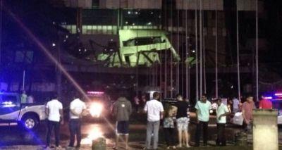 Despenca parte da estrutura do Centro de Convenções em Salvador