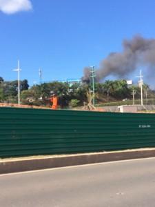 Incêndio atinge campus da FTC na Paralela