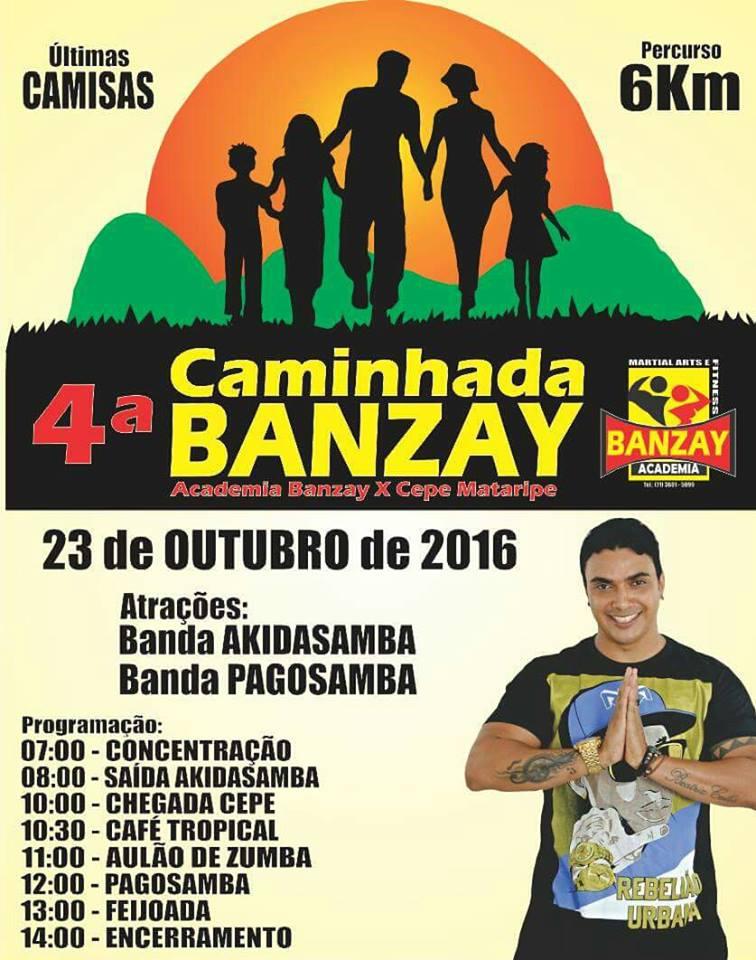 4ª Caminhada da Banzay acontece neste domingo (23)