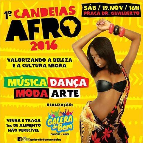 1º Candeias Afro acontece no próximo sábado (19)