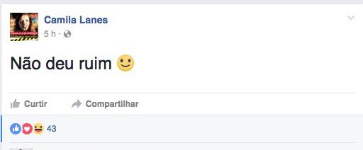 Presidente da UBES, Camila Lanes, lançou falsa comunicação de vazamento de prova nas redes sociais