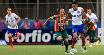 Com gol no fim, Bahia vence o Sampaio Corrêa e pula para o 2ª lugar da Série B