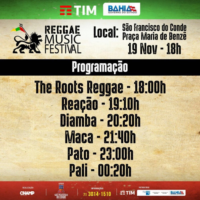 Evento reúne personalidades do reggae em São Francisco do Conde