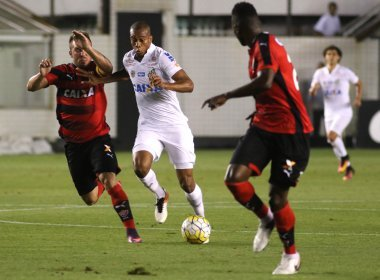 Vitória sofre revés para o Santos na Vila Belmiro por 3 a 2