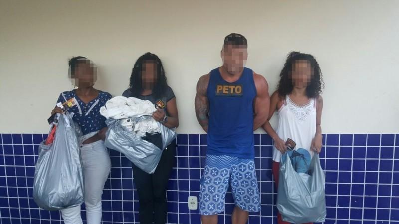 Grupo é preso acusado de assaltar loja Di Fábrica na Estrada do Coco