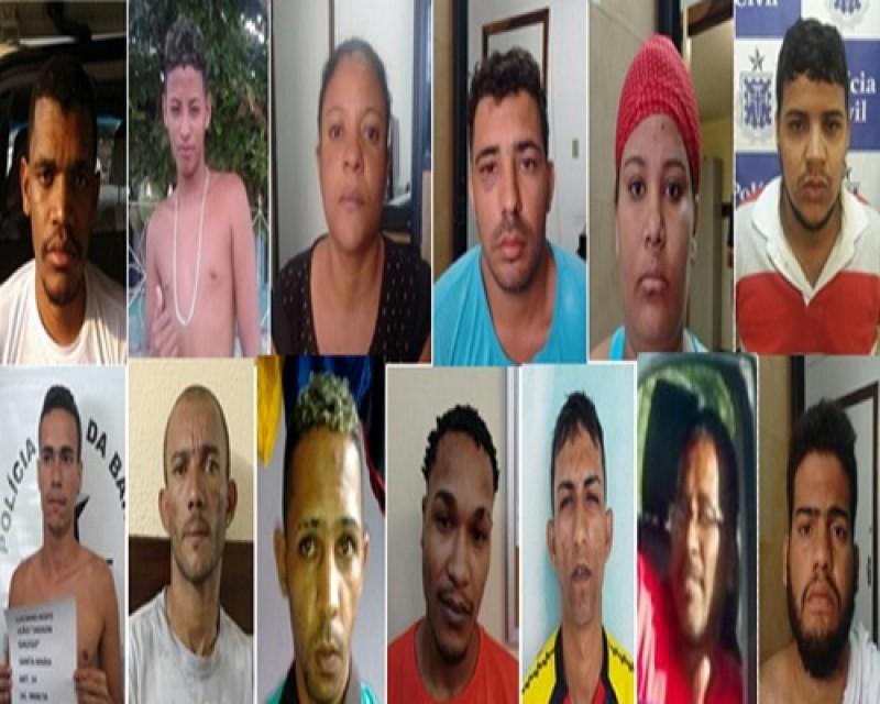 Operação prende 13 suspeitos de homicídios e tráfico de drogas em Camaçari