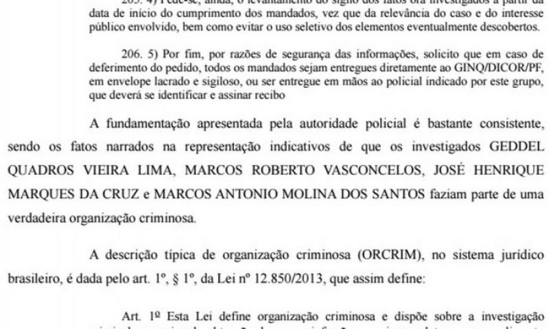 MPF diz que Geddel integrava 'verdadeira organização criminosa'