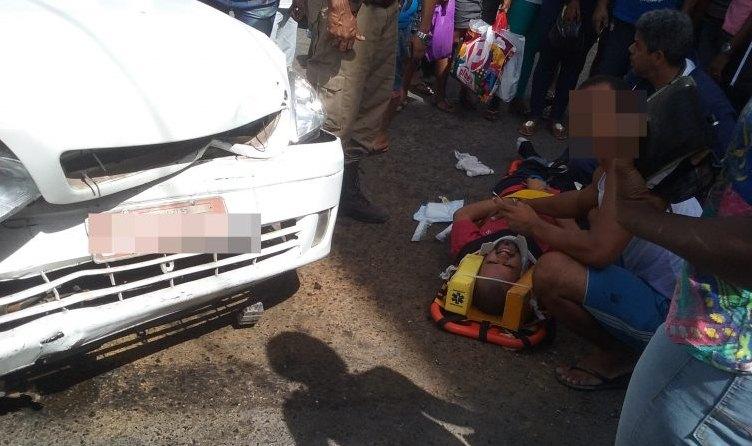 Candeias: Taxista passa mal e atropela pedestre no centro da cidade