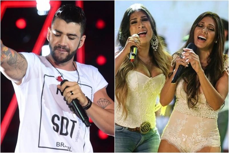 Gusttavo Lima e Simone e Simaria juntos em Salvador