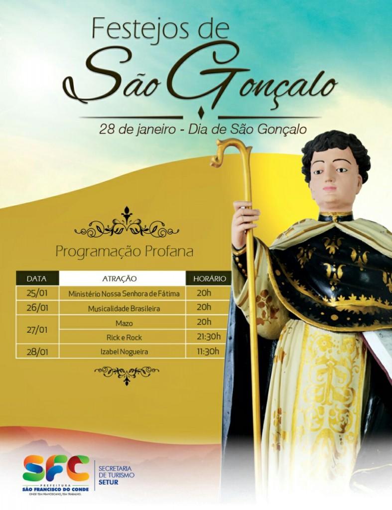 São Francisco do Conde terá festa em louvor ao padroeiro São Gonçalo